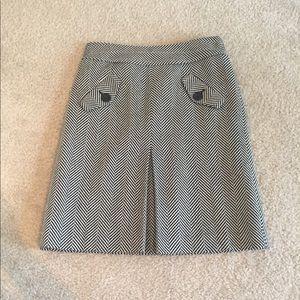 Ann Taylor Loft black & white wool skirt
